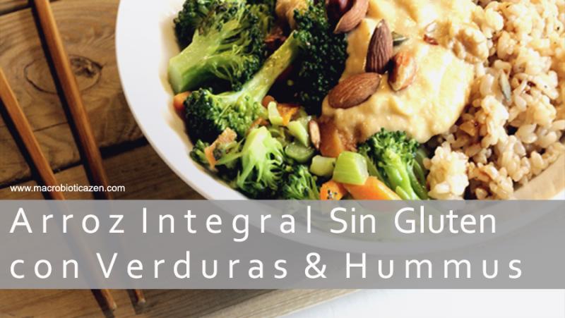 arroz-integral-sin-gluten-con-verduras-y-hummus