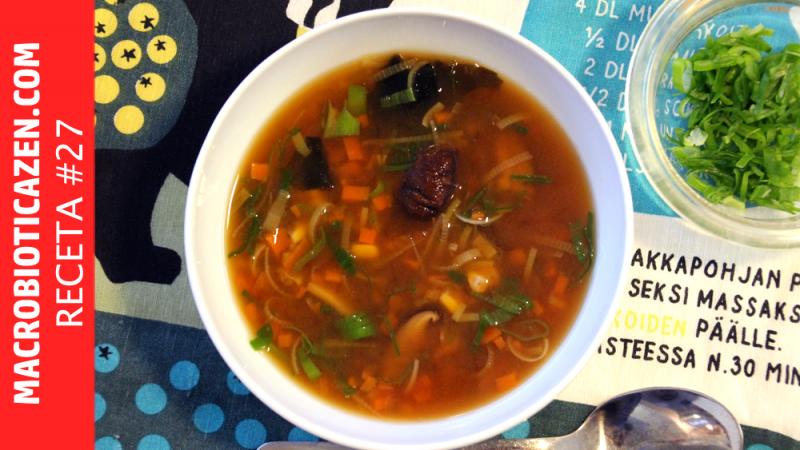 sopa de miso macrobiotica zen vegana saludable