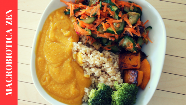 arroz con lentejas rojas batata calabaza y verduras